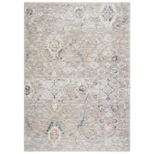 Moondust Gray/Ivory 5 ft. x 8 ft. Floral Area Rug
