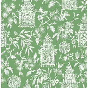 Green Danson Peel and Stick Wallpaper Sample