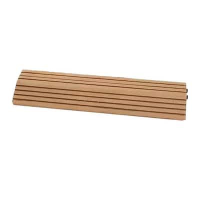 MI Premier 1 ft. x 024 ft. Interlocking Loose Lay Composite Edge Deck Tile in Oak (10 Edges per Case)