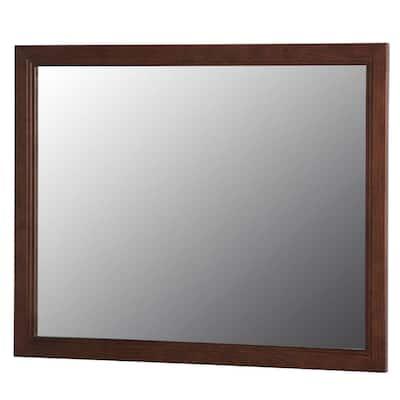 Brinkhill 32 in. W x 26 in. H Wall Mirror in Cognac