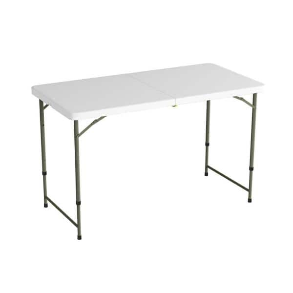 Lavish Home 4 Ft Adjustable Folding Utility Table With 2 Height Settings Hw0200288 The Depot