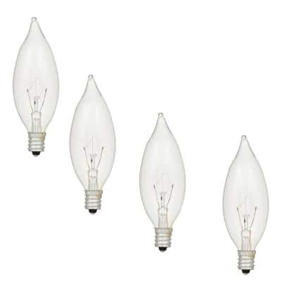 40-Watt B10 Double Life Incandescent Light Bulb in 2700K Soft White Color Temperature (4-Pack)