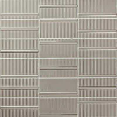 Magnitude Echo Gray 4 in. x 8 in. x 7.5mm Polished Ceramic Subway Wall Tile (50 pieces / 10.76 sq. ft. / box)