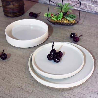 Kaden 12-Piece Modern White Porcelain Dinnerware Set (Service for 4)