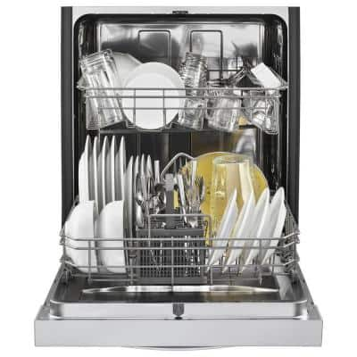 24 in. Stainless Steel Front Control Built-In Tall Tub Dishwasher with Stainless Steel Tub, 51 dBA