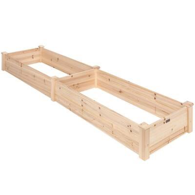 8 ft. x 2 ft. Wood Raised Garden Bed