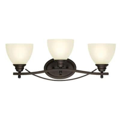 Elvaston 3-Light Oil-Rubbed Bronze Wall Mount Bath Light