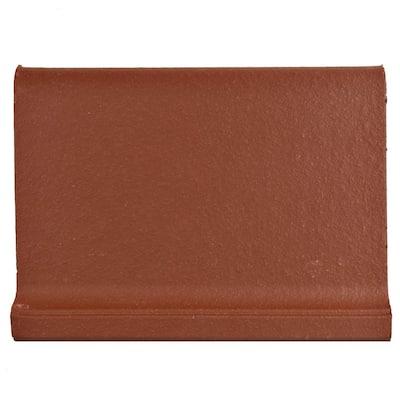 Klinker Red 4-3/8 in. x 5-7/8 in. Ceramic Skirting Floor and Wall Quarry Tile