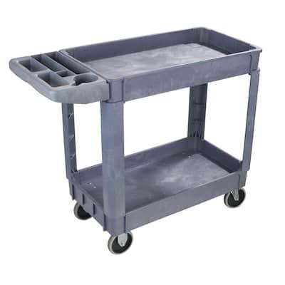 25 in W. x 33 in.H Large Gray Bin Top Utility Cart