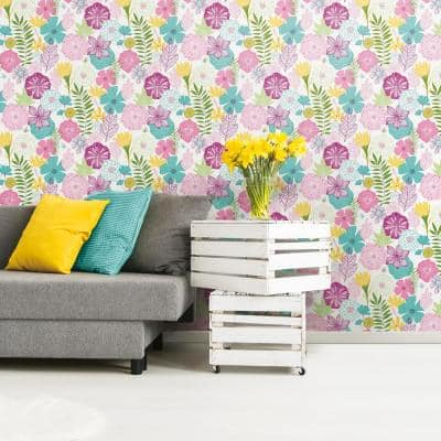 Perennial Blooms Peel and Stick Wallpaper (Covers 28.18 sq. ft.)