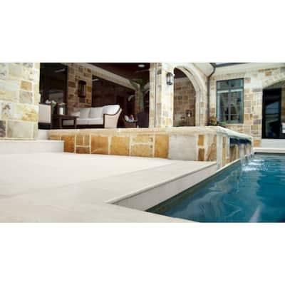Caldera Blanca 13 in. x 24 in. Matte Porcelain Pool Coping (26 pieces/56.33 sq. ft./pallet)