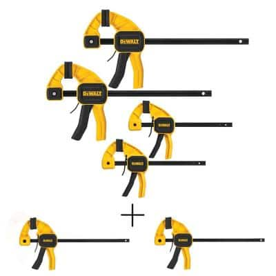 Medium and Large Trigger Clamp (4-Pack) with Two 4.5 in. 35 lbs. Trigger Clamp with 1.5 in. Throat Depth