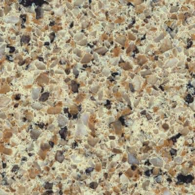 4 in. x 4 in. Natural Quartz Vanity Top Sample in Sand Staccato