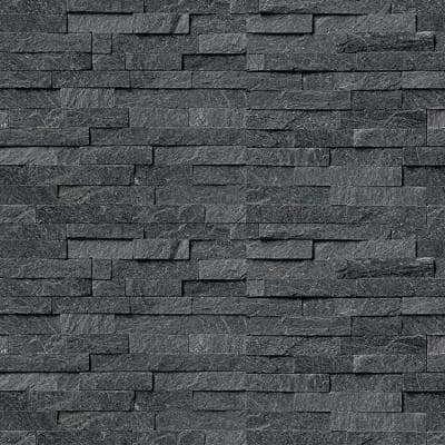 Coal Canyon 6 x 16 x 8 in. Natural Stacked Stone Veneer Corner Siding Exterior/Interior  Wall Tile (10-Box/64.17 sq ft)