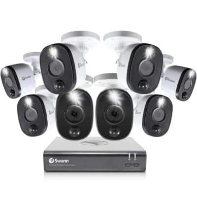 DVR-4580 8-Channel 1080p 1TB Security Camera System with Eight 1080p Wired Bullet Cameras