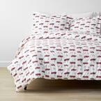 Company Kids Fireman's Best Friend 3-Piece Multicolored Organic Cotton Percale Full Comforter Set