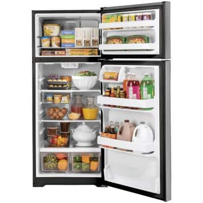 16.6 cu. ft. Top Freezer Refrigerator in Stainless Steel