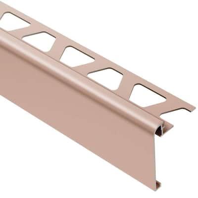Rondec-Step Satin Copper Anodized Aluminum 5/16 in. x 8 ft. 2-1/2 in. Metal Tile Edging Trim