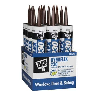 Dynaflex 230 10.1 oz. Brown Premium Exterior/Interior Window, Door and Trim Sealant (12-Pack)