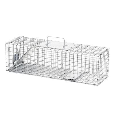 Medium 1-Door Professional Live Animal Cage Trap for Rabbit and Skunk