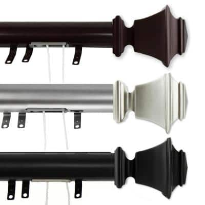 Bach 84 in. - 156 in. Traverse Curtain Rod in Cocoa