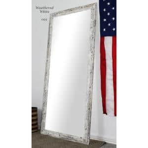 Oversized White And Gray Composite Rustic Mirror (71 in. H X 32 in. W)