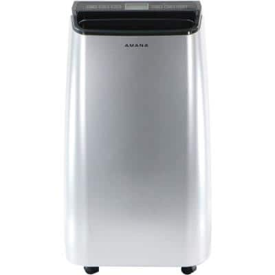 10000 BTU (6,500 BTU DOE) Portable Air Conditioner in Silver and Gray