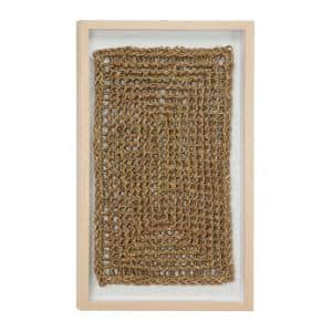 Abstract Braided and Chain Linked Rope and Wood Wall Art