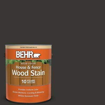 1 Gal. Black Solid Color House and Fence Exterior Wood Stain