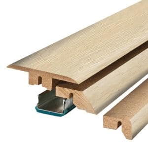 Sunbaked Sand Oak 0.75 in. Thick x 2.37 in. Wide x 78.75 in. Length Laminate 4-in-1 Molding