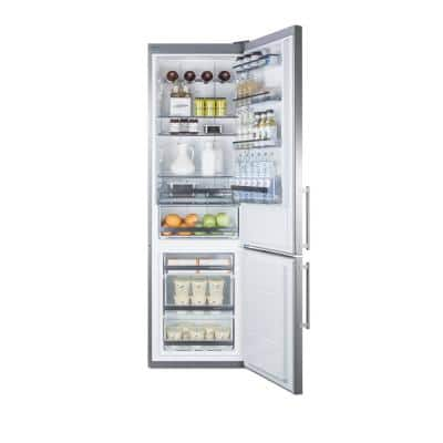 24 in. W 12.8 cu. ft. Built-In Bottom Freezer Refrigerator in Stainless Steel, Counter Depth