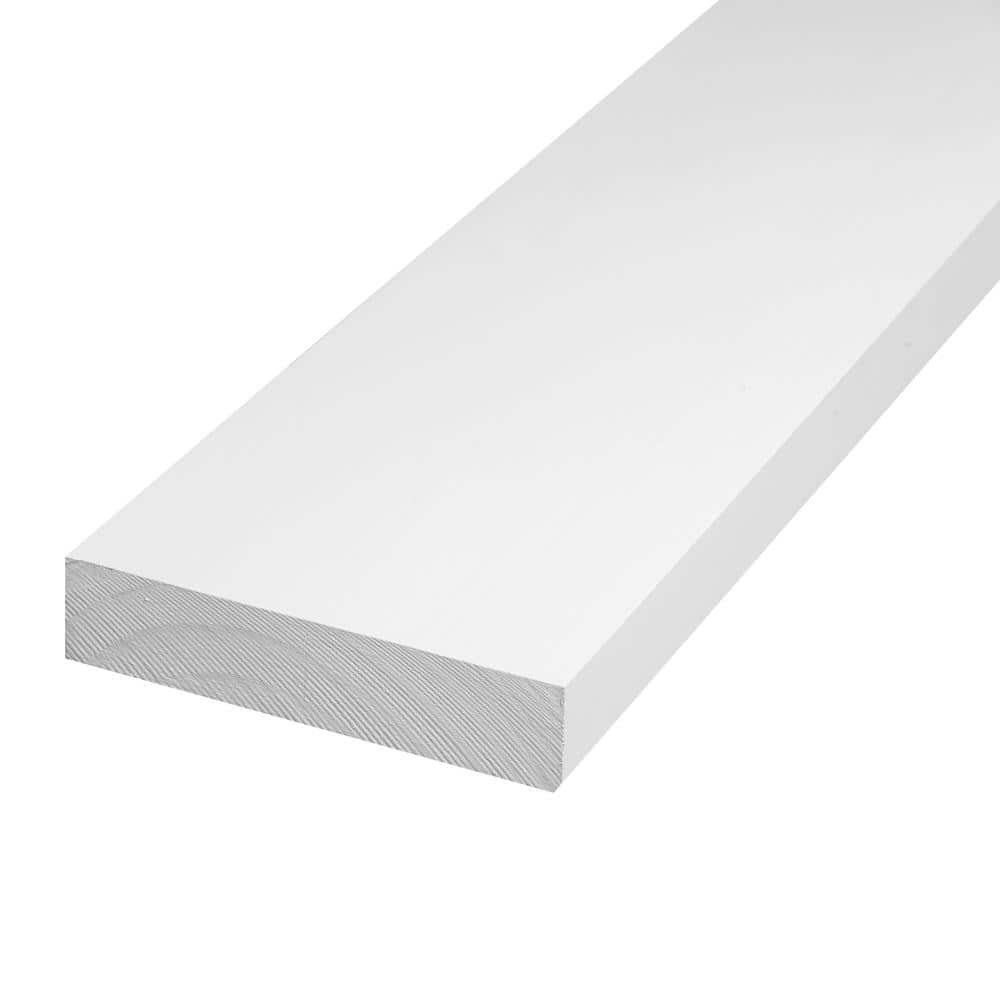 Cmpc 1 In X 4 In X 8 Ft Primed Finger Joint Pine Trim Board Actual Size 0 719 In X 3 5 In X 96 In 6 Piece Per Box Cmpc0028752 The Home Depot