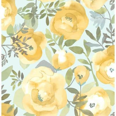 Peachy Keen Yellow Vinyl Peel & Stick Wallpaper Roll (Covers 30.75 Sq. Ft.)