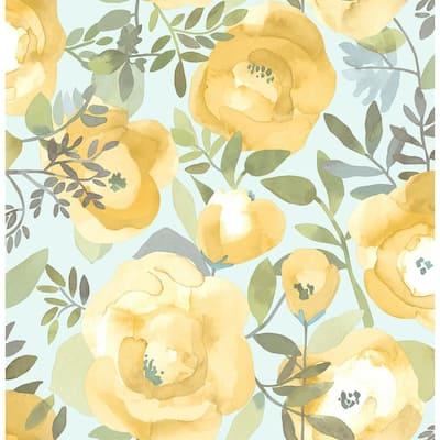Peachy Keen Yellow Yellow Wallpaper Sample