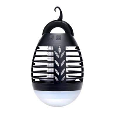 Outdoor Bug Zapper - Waterproof, USB Rechargeable and Battery Powered Mosquito Killer, Insect Trap and Fly Swatter