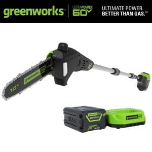 PRO 10 in. 60V Battery Cordless Pole Saw with 2.0 Ah Battery and Charger