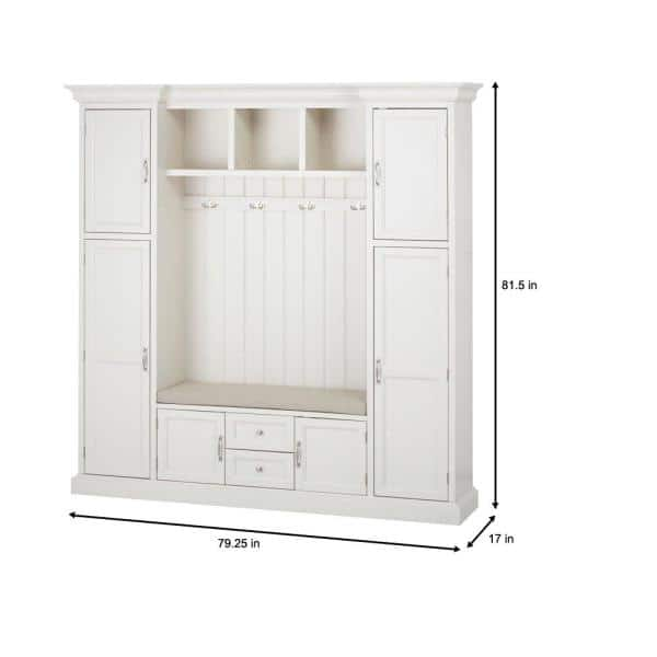 "Home Decorators Collection - Royce Polar White 79.25"" Hall Tree"