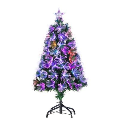 3 ft. H Fiber Optic Color-Changing Tree