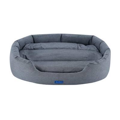 Missy Medium Navy Blue Round Dog Bed