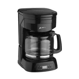 Brentwood Appliances 12 Cup Black Coffee Maker With 16 Oz Stainless Steel Heated Travel Mug And 12 Volt Car Adapter 843631123188 The Home Depot