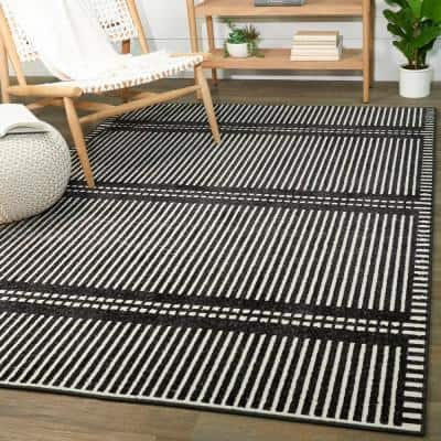 Sinclair Charcoal 5 ft. x 7 ft. Contemporary Area Rug