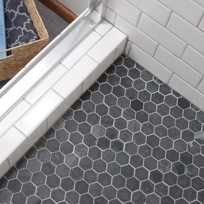 Crag Hexagon Black 11-1/8 in. x 11-1/8 in. x 8 mm Slate Mosaic Tile (0.86 sq. ft./Each)