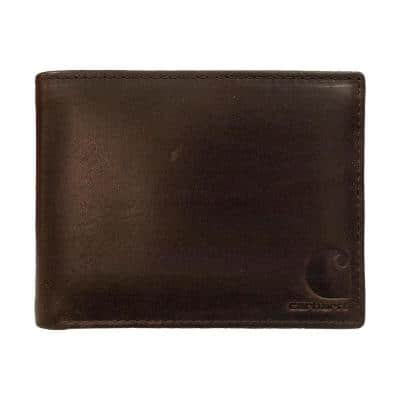Mens Leather Brown Oil Tan Passcase Wallet