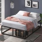 Joseph Black Metal Queen 14 in. Platform Bed