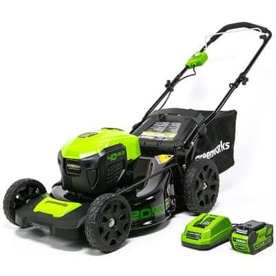 20 in. 40-Volt Battery Cordless Push Lawn Mower with 4.0 Ah Battery and Charger