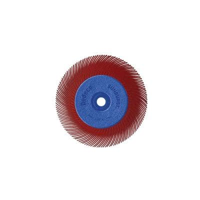 Sunburst - 6 in. TC Radial Discs - 1/2 in. Arbor - Thermoplastic Cleaning and Polishing Tool, Standard 220-Grit (1-Pack)