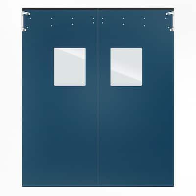 Optima 1/4 in. x 96 in. x 120 in. Single-Ply Blue Impact Door