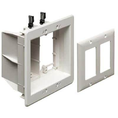 2-Gang Recessed TV Box for Power and Low Voltage
