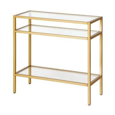 Sivil 24 in. Brass Modern Glam Side Table