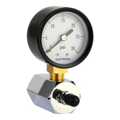3/4 in. IPS Gas Pressure Test Gauge 0-30 psi